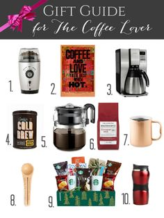Who doesn't love coffee? Pick up these unique gifts for the coffee lover in your life.