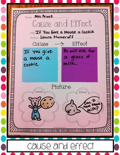 sticky note reading skills: cause and effect