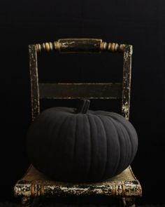 Sweet Paul's Big & Black Pumpkin for Halloween