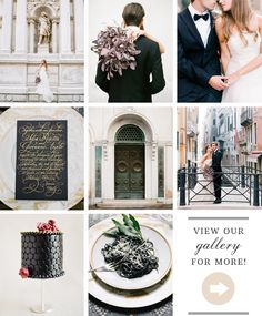 It would be kinda hard to shoot on the canals of Venice and not have it turn out gorgeous. Gondolas passing, quaint sidewalk cafes, centuries old architecture—enough said. But even so, Heather Waraksa and Chic Weddings really outdid themselves with this bit of bridal inspiration. It's dark, mysterious, elegant, and distinctly European. Gold calligraphy on […]