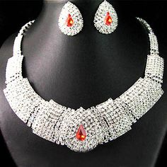 >> Click to Buy << Wedding Party Prom Bridal Rhinestone Bib Statement Necklace Earrings Jewelry Set 9QCG #Affiliate