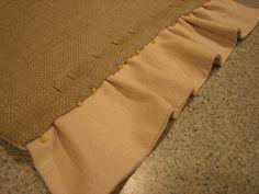 sewing a burlap runner
