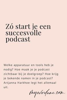 Al snel na de lancering van haar podcast interviewt Artjanna Harkhoe ondernemers als Zarayda Groenhart, Charlotte van 't Wout, Eelco de Boer en Michael Pilarczyk. Wil je ook starten met een podcast? Dan komen er vast veel vragen bij je op. Welke apparatuur en tools heb je nodig? Hoe maak je je podcast zichtbaar bij je doelgroep? Hoe krijg je bekende namen in je podcast? Artjanna legt het allemaal uit. Let's go! Podcast Tips, Blog Tips, Online Marketing, Blogging, Internet Marketing