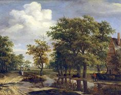 Meindert Hobbema (bapt. October 31, 1638 – December 7, 1709) Paysage (1659), oil on panel. Dimensions: 53 x 69 cm. Inscriptions: MHobbema 1659. Acquisition date: 1838. Nr.: MG 81 Musée de Grenoble