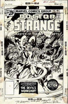 The cover to DOCTOR STRANGE #15 by Gene Colan and Tom Palmer.