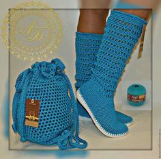 Crochet Boots Pattern, Crochet Boot Socks, Crochet Sandals, Shoe Pattern, Crochet Slippers, Make Your Own Shoes, Tatting Necklace, Crochet Purses, Knitted Bags