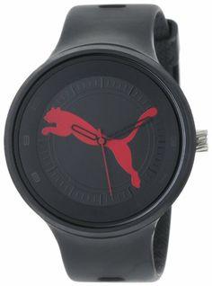 """PUMA Men's PU910871001 Slick """"Big Cat"""" Black Red Watch"""