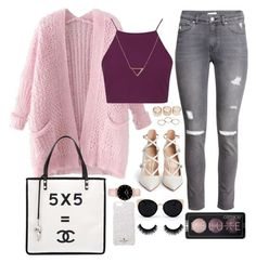 """Untitled #94"" by austeja-kriaucionyte ❤ liked on Polyvore featuring Una-Home, Chicnova Fashion, Topshop, H&M, Banana Republic, Wet Seal, Gianvito Rossi, Chanel and Kate Spade"