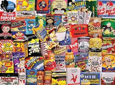 Amazon.com: White Mountain Puzzles Popcorn - 550 Piece Jigsaw Puzzle: Toys & Games