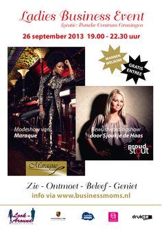 Ladies Business Event in Porsche centrum Groningen donderdag 26 september 2013: Xsasa bruidsmode is hier aanwezig!