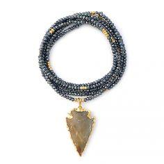 mysticpyritearrowhead.jpg  faceted mystic Pyrite & Gold vermeil nugget beads, 38L  295