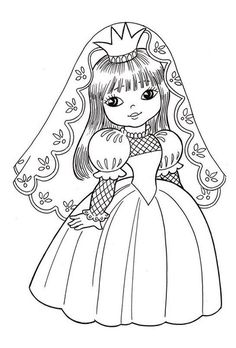 VK is the largest European social network with more than 100 million active users. Coloring Pages For Girls, Coloring Book Pages, Coloring For Kids, Coloring Sheets, Drawing Lessons For Kids, Bride Dolls, Digi Stamps, Art Drawings Sketches, Fabric Painting