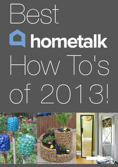 What kinds of DIY home improvement ideas caught America's attention in Here& a countdown of Hometalk readers' most viewed projects. Diy Craft Projects, Garden Projects, Home Projects, Projects To Try, Home Crafts, Diy Home Decor, Diy Crafts, Diy Home Improvement, Getting Organized