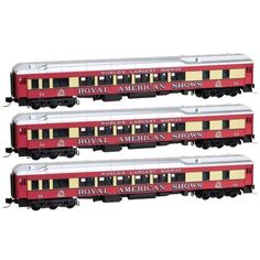 Starter Sets and Packs 22547: N Scale Mtl 99301350 Royal American Shows 3-Pack Passenger Cars -- New In Box -> BUY IT NOW ONLY: $45 on eBay!
