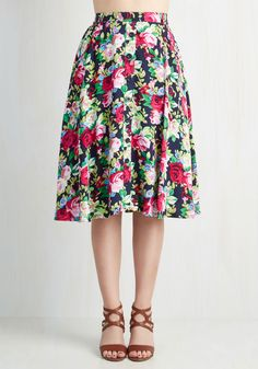 With Books to Match Skirt in Roses, @ModCloth
