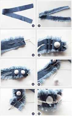 How To Make Bracelets With Old Jeans | DIY Tag