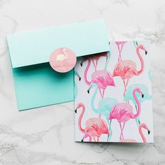 Because flamingos. Tag a friend who would love this card too!