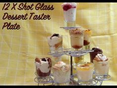 Video Cooking Demonstration and recipe for 12 different Shot Glass Desserts. In response to a request for ideas for shot glass desserts submitted by Facebo Mini Dessert Shots, Shot Glass Desserts, Dessert Shooters, Mini Desserts, Dessert Recipes, Cupcake Cakes, Cupcakes, Parfait, Food Videos