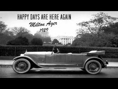 Happy Days are Here Again - Milton Ager.  Try this one instead.  https://www.youtube.com/watch?v=lXVnli07Epg   s