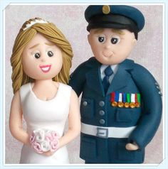 Personalised Wedding Topper Bride and Groom by DesignsByDenisa