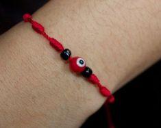 Bracelet Crafts, Beaded Bracelets, Evil Eye Bracelet, Adjustable Bracelet, Diy Jewelry, Beads, Baker Baker, Tattoos, Etsy