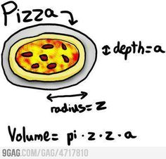 I can die in peace-a   Pizza equation