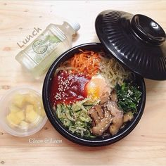Korean Veggies Bibimbap  Today's Lunch 428 cal/serving Based on 2000 kcal diet.  #eatclean #getlean #cleanleanJKT #cleaneating #lifestyle #healthy #gluttenfree #fatloss #musclegain #FitnotSkinny #lowcarb #protein #superfood #katering #healthycatering #kateringdiet#kateringsehat#greens #instafit #organic #lowfat #dietbalance #fitness #gym #postWorkoutmeal #preworkoutmeal #foodphotography by cleanlean_catering