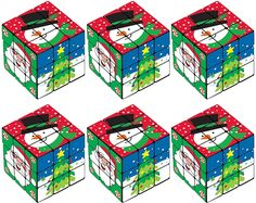 AmazonSmile: Christmas Puzzle Cube 6ct: Toys & Games Educational Christmas Gifts, Christmas Puzzle, Cube Puzzle, Gifted Education, Student Gifts, Decorative Boxes, Students, Games, Toys