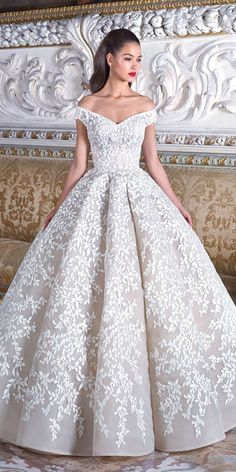 Specially For You Demetrios 2019 Wedding Dresses ❤️ demetrios 2019 wedding dresses ball gown off the shoulder floral appliques ❤️ Full gallery: https://weddingdressesguide.com/demetrios-2019-wedding-dresses/ #bride #wedding #bridalgown