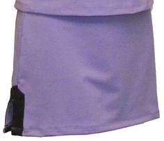 In-Between Plaket A-Line Tennis #Skirt (Pur/ Blk)