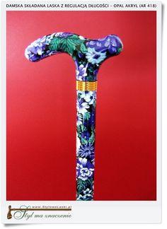 Damska lekka kolorowa laska z regulacją dla eleganckiej kobiety (AR 418)