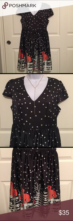 brand-new polkadot black dress large woman ladies brand-new polkadot black dress size large hundred percent polyester with lining made in China woman's and ladies. it says size large but if this fits medium. Check out my closet, we have a variety of Victoria Secret, Bath and Body Works, handbags 👜 purse 👛 Aerosoles, shoes 👠fashion jewelry, women's clothing, Beauty products, home 🏡 decors & more...  Ships via USPS. Don't forget to bundle, you save big! Always a FREE GIFT 🎁 with every…