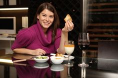 Gail Simmons, Top Chef...Love her! She has some good tutorials online!