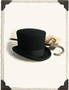 BLACK MEN'S TOP HAT (LARGE)