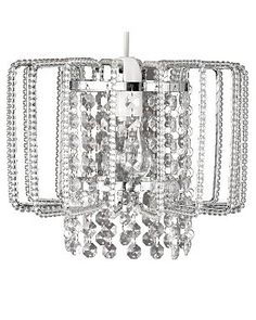 buy kirsty beaded shade clear at argos co uk visit argos co uk to