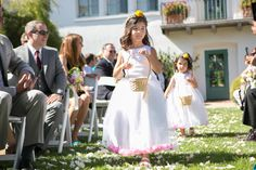 Flower girls // Classic Bride: Classic Summer California Wedding {with two gowns!} Preppy + Polished Wedding Style // Planning and Coordination by All You Need is Love Events and Photos by Christine Chang Photography