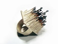 """Aliki Stroumpouli - """"Spiky"""" (2007). Ring. Silver."""