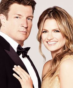 Gorgeous Stana Katic and Nathan Fillion