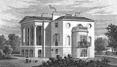 Published April 26 1828 by Jones & Co. 85 x Quarto. Kingsland Road, Image Database, London Places, Neoclassical, Old City, Villa, England, Mansions, Park