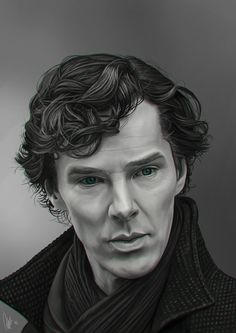 Amazing digital painting of Sherlock by tillieke on deviantART. I thought it was a photograph at first!