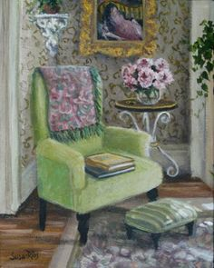 Susan Rios; The Green Armchair Painting