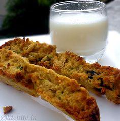 Zucchini & Carrot Wholegrain Biscotti – A Healthy Tea Time Munch @Lite Bite