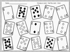 FREE!  Roll and color (or deal and color) math game!