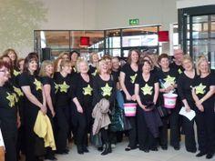 Rock Choir flashmob 2011 - McArthur Glen, Mansfield - members from Beeston, Derby, Ashbourne & Belper Choirs