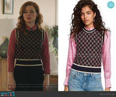 Zoey's black patterned vest on Zoeys Extraordinary Playlist Jane Levy, Vest Pattern, Knit Vest, Other Outfits, Net, Black Pattern, Closet, Style, Fashion