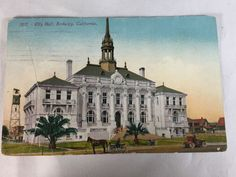 Vintage Berkeley City Hall California postcard postmarked 1910