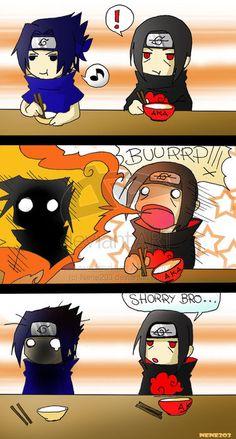 Sasuke and Itachi. #naruto