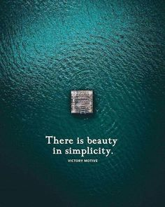 There is beauty in simplicity..