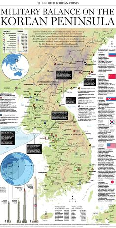 Military balance in the Korean Peninsula || Infographic by the National Post (Canada)