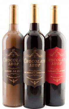Really. What's not to love here? Chocolate Shop Wine. Tasted this last year at the Northwest Chocolate Festival in Seattle.  Love at first sip.